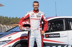 Tiago Monteiro testou Honda Civic em Aragon