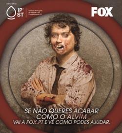 Famosos transformam-se em 'zombies' para campanha de sangue