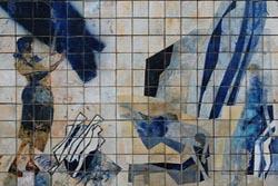 Restauro do painel de azulejos de Resende na Ribeira já está concluído