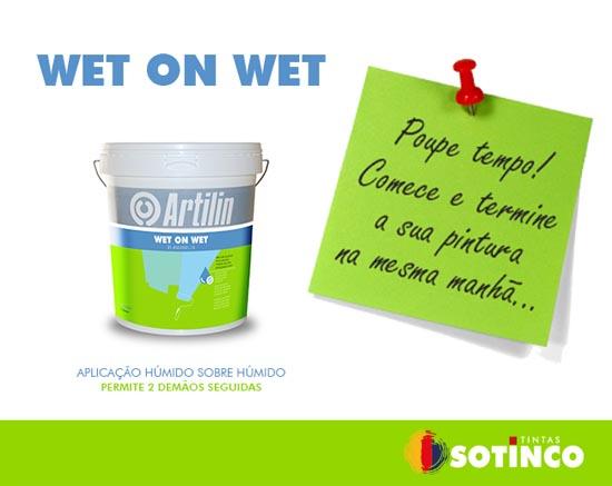 Sotinco lança nova tinta Wet on Wet