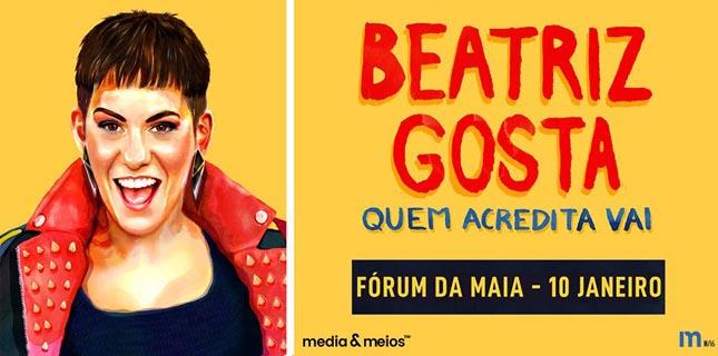 """Beatriz Gosta apresenta """"Quem Acredita Vai"""" no Fórum da Maia"""