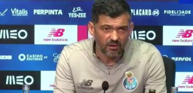 """Sérgio Conceição: """"Ambição, determinação e seriedade vão estar sempre presentes"""""""