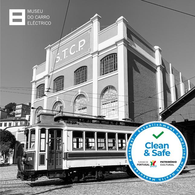 """Museu do Carro Eléctrico distinguido com o selo """"Clean & Safe – Património Cultural"""""""