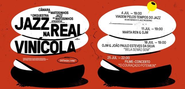 """Câmara de Matosinhos e Orquestra Jazz promovem """"Jazz na Real Vinícola"""""""