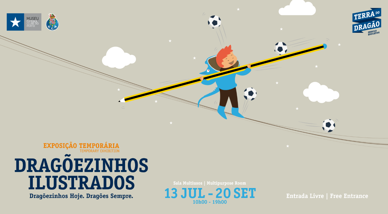 """""""Dragõezinhos Ilustrados"""" em exposição no Museu FC Porto"""
