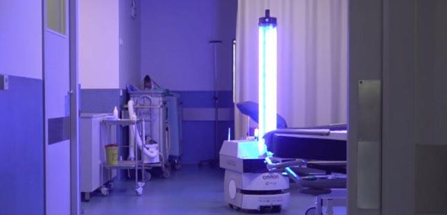 Robô de desinfeção testado em hospital de Valongo