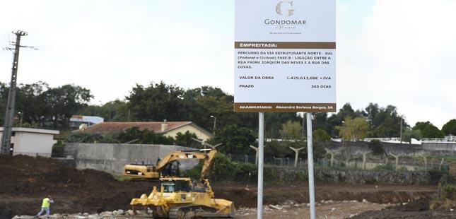 Gondomar: Prosseguem as obras de construção da Via Estruturante Norte-Sul