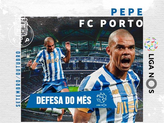 Pepe eleito o Melhor Defesa da Liga em setembro/outubro