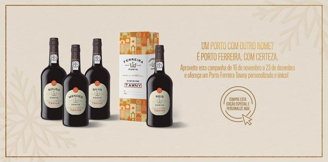 Vinho do Porto Ferreira Tawny pode ser personalizado neste Natal