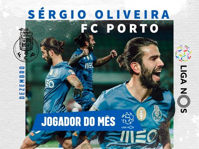 Sérgio Oliveira eleito melhor jogador de dezembro da I Liga