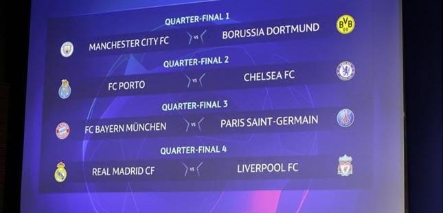 Chelsea é o adversário do FC Porto nos quartos de final da Liga dos Campeões