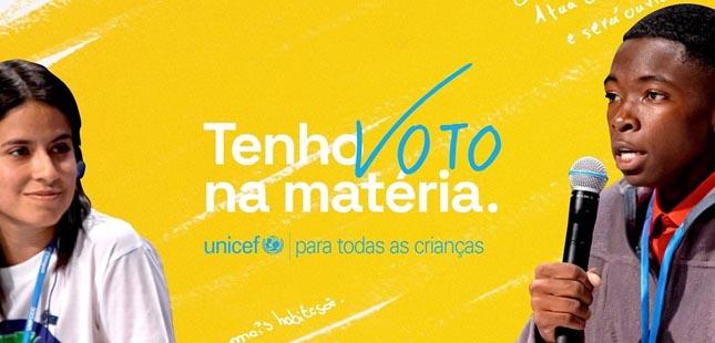 """Unicef lança campanha """"Tenho voto na matéria"""""""